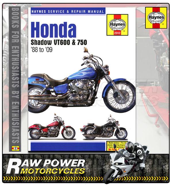 honda shadow vt600 and 750 1988  u2013 2009 haynes owners