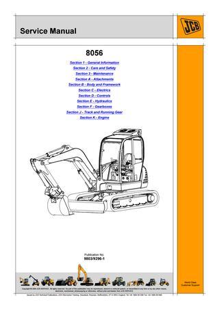 download JCB 8056 Mini Crawler Excavator able workshop manual