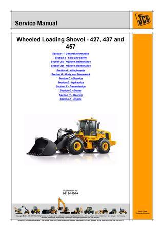 download JCB WHEELED Loader 410 able workshop manual