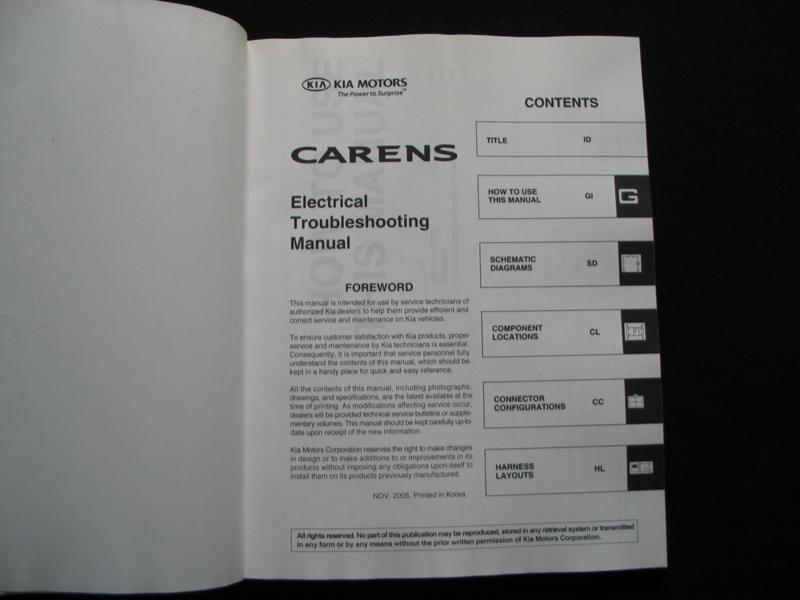 download KIA CARENS workshop manual